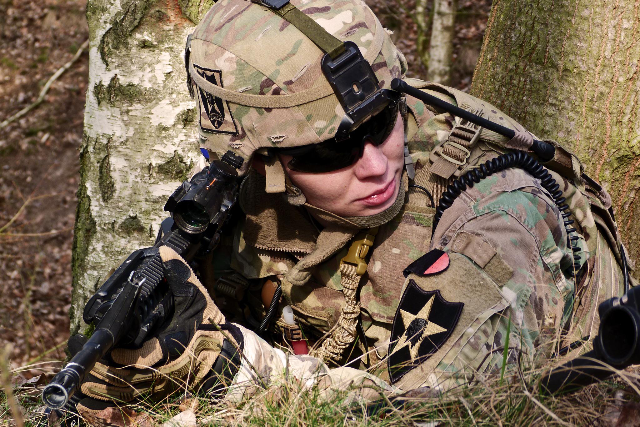 SGT Stehlík na bojové pozici